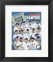 Framed Cubs - 2007 NL Central Division Team Composite