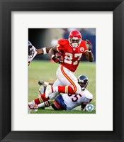 Framed Larry Johnson - 2007 Rushing Action