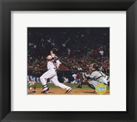 Framed Dustin Pedroia  -'07 ALCS / Game 7 Home Run