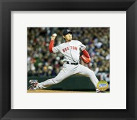 Framed Daisuke Matsuzaka - '07 World Series Game 3