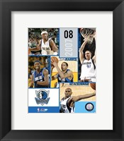 Framed '07 / '08 Mavericks Team Composite