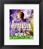 Framed Adrian Peterson - 2007 Portrait Plus
