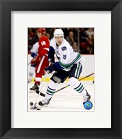 Framed Markus Naslund - 2007 Away Action