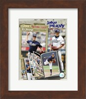 Framed Jake Peavy - 2007 NL CY Winner  / Portrait Plus