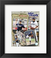 Framed Jake Peavy - 2007 NL CY Winner  / Portrait Plus