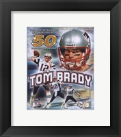 Framed Tom Brady 50 TD's Portrait Plus