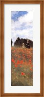 Framed Field of Poppies (panel)