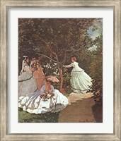 Framed Women in a Garden