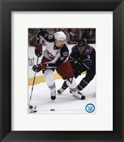 Framed Rick Nash 2007-08 Action