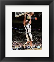 Framed Tim Duncan 2007-08 Action