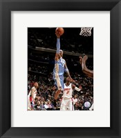 Framed Allen Iverson 2007-08 Action Reaching for Hoop