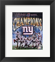 Framed New York Giants 2007 Super Bowl XLII Champions Composite