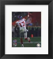 Framed Plaxico Burress SuperBowl XLII 2007 Action #15