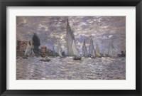 Framed Les Barques, Regates a Argenteuil