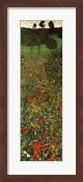 Framed Field of Poppies, c.1907 (detail) - vertical