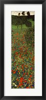 Framed Field of Poppies, c.1907 (detail) - vertical