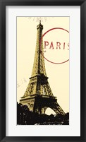 Graphic Paris Neutral Framed Print