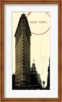 Framed Graphic New York Neutral