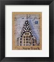 Souvenir of New York Framed Print