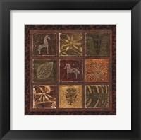 Tribal Collage I - mini Framed Print
