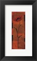Goa Poppy Panel II - petite Framed Print