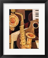 Framed Abstract Sax - mini