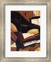 Framed Abstract Piano - mini