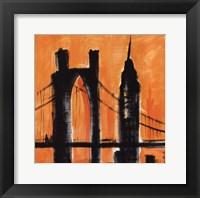 Framed Amber Cityscape