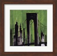 Framed Green Cityscape