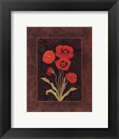 Damask Poppy - petite Framed Print