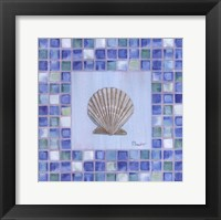 Mosaic Scallop Framed Print