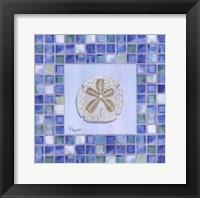 Framed Mosaic Sanddollar