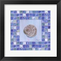 Mosaic Moonshell Framed Print