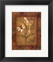 Framed Garden Lilies I - mini