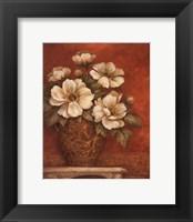 Framed Villa Flora Peonies - mini