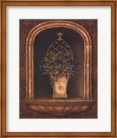 Framed Olive Topiary Niches II - mini