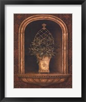 Framed Olive Topiary Niches II - mini