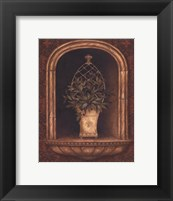 Framed Olive Topiary Niches II - petite