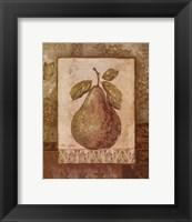 Framed Rustic Pears I - mini