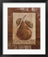 Framed Rustic Pears II