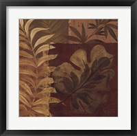 Framed Tropical Foliage I