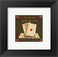 Framed Texas Hold Em - special