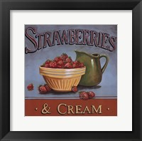Framed Strawberries & Cream