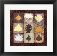 Framed Leaf Mosaic I