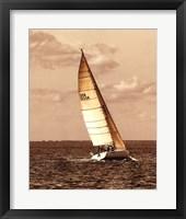 Weekend Sail II Framed Print