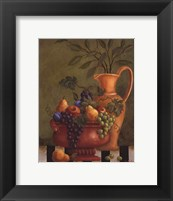 Framed Fresco Fruit II - mini