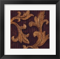 Framed Gold Acanthus I