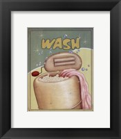 Wash Framed Print