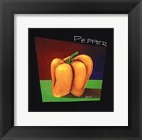 Framed Yellow Pepper - mini