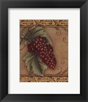 Framed Grape Tapestry I - mini